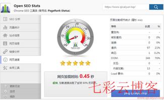 """谷歌浏览器插件分享""""Open SEO Stats"""""""